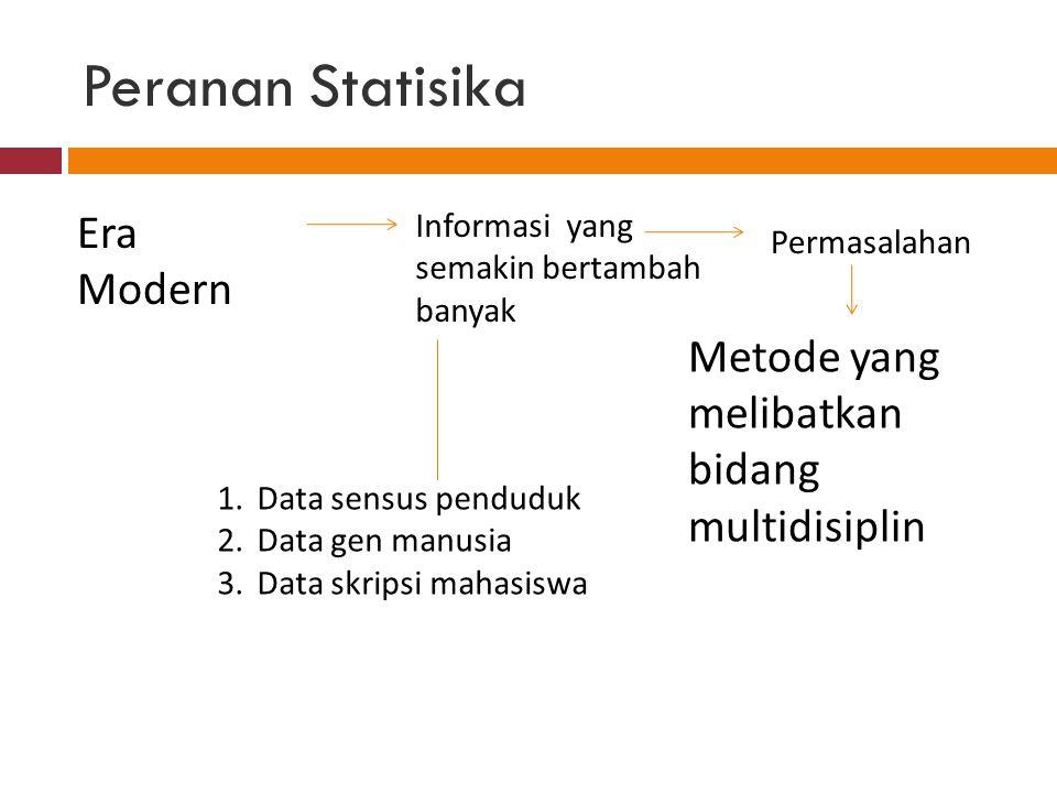 Peranan Statisika Era Modern