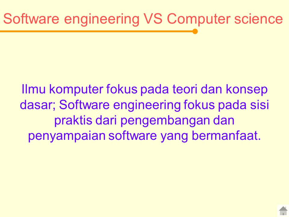Software engineering VS Computer science