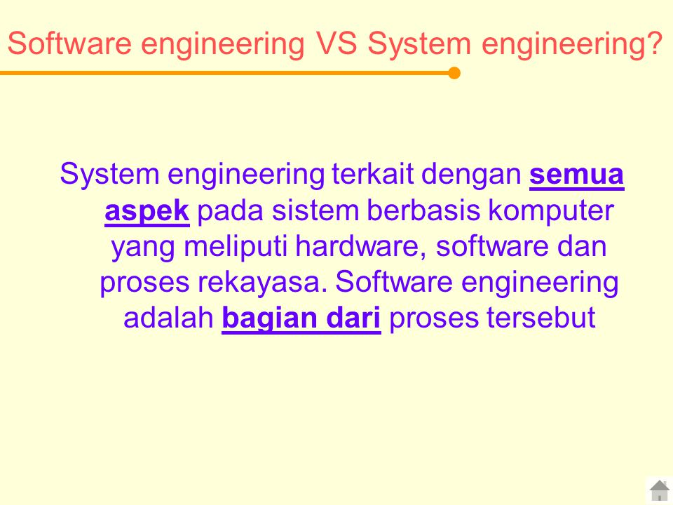Software engineering VS System engineering
