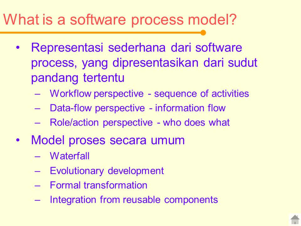 What is a software process model
