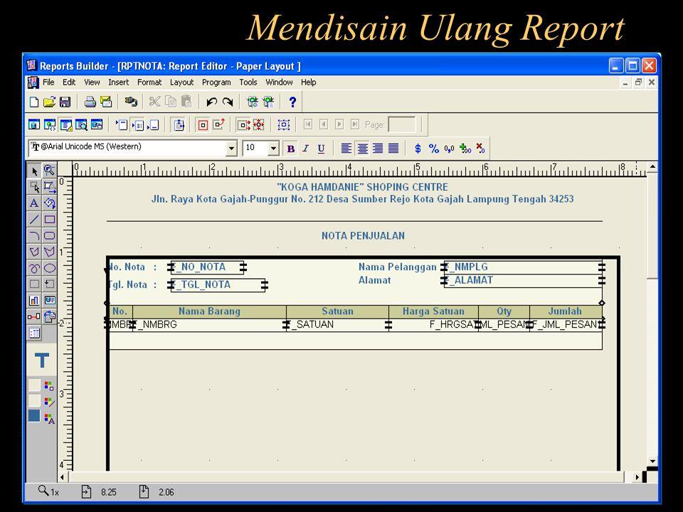 Mendisain Ulang Report
