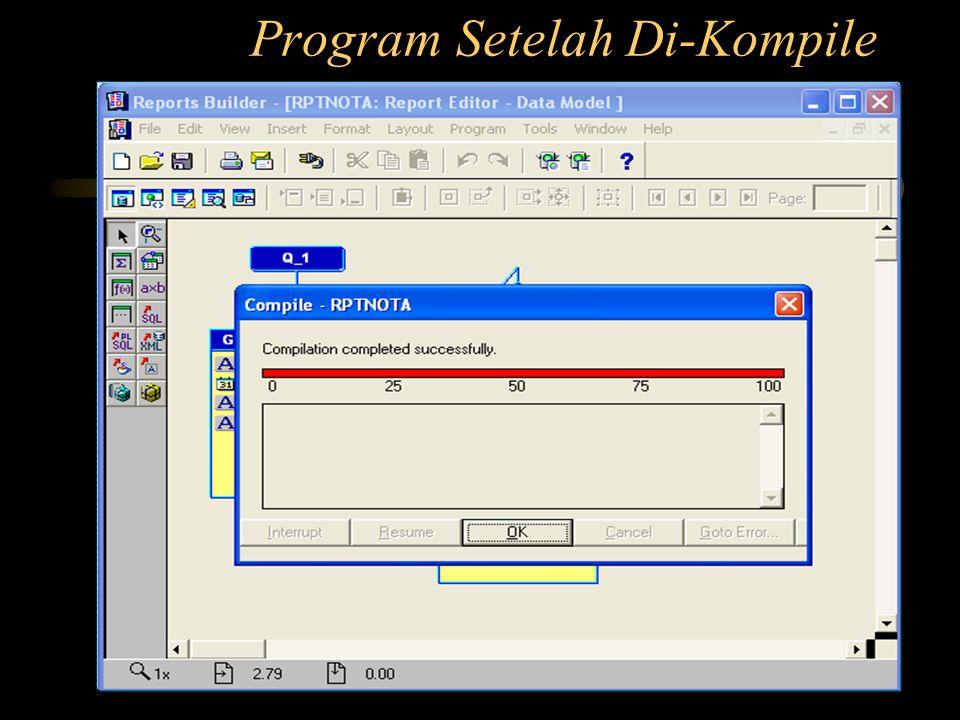 Program Setelah Di-Kompile