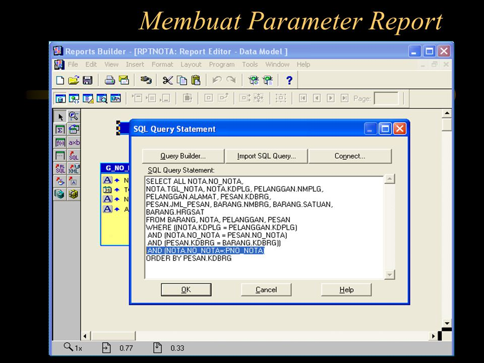 Membuat Parameter Report