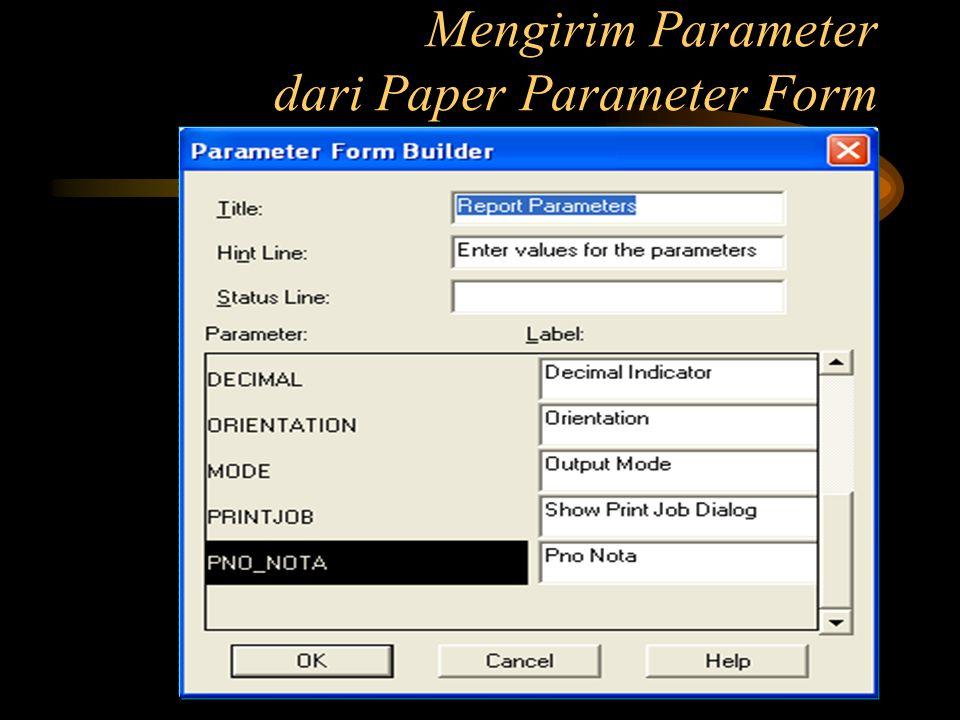 Mengirim Parameter dari Paper Parameter Form