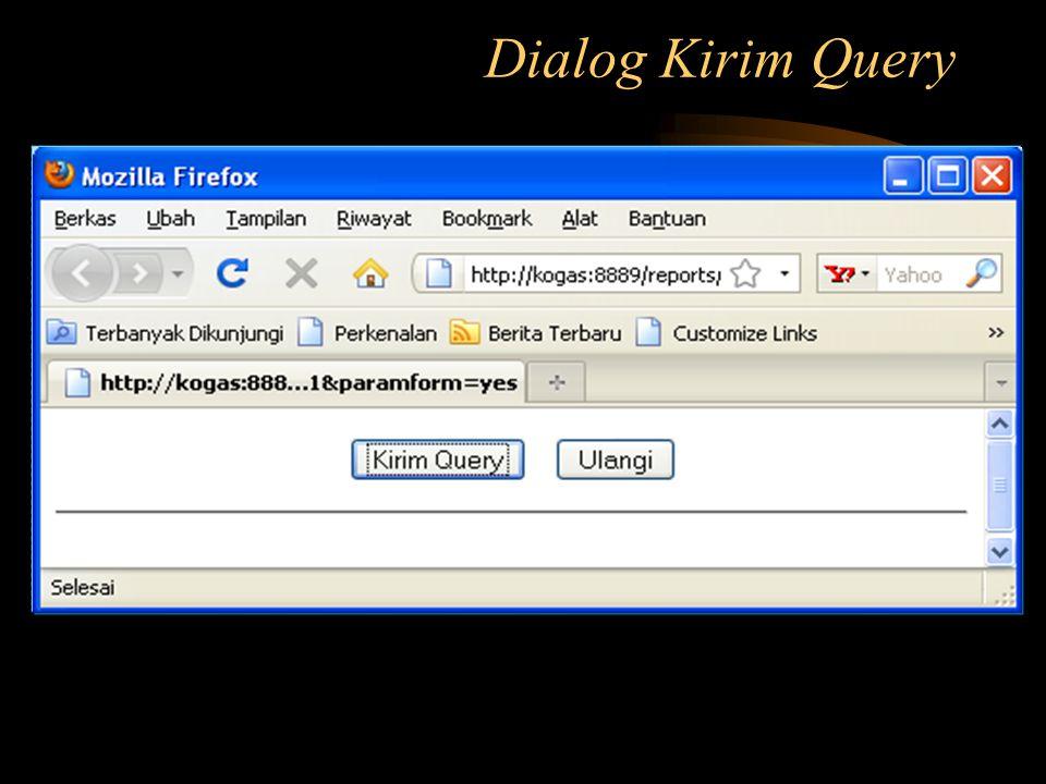 Dialog Kirim Query