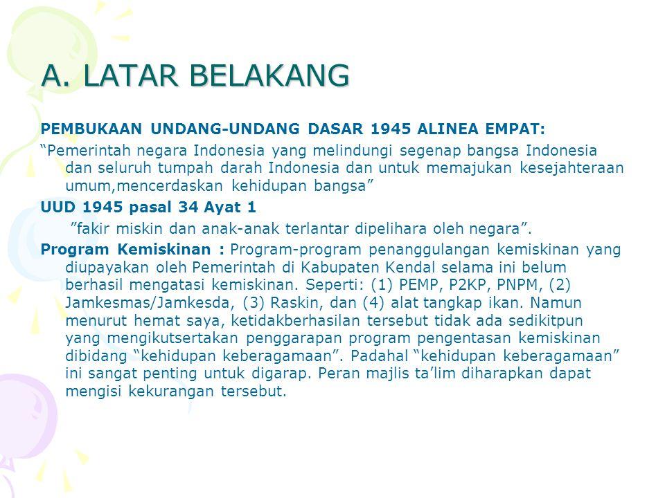 A. LATAR BELAKANG PEMBUKAAN UNDANG-UNDANG DASAR 1945 ALINEA EMPAT: