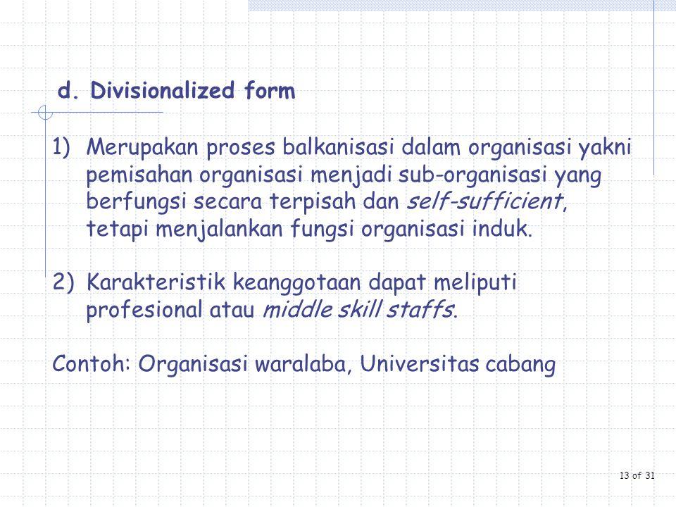 Contoh: Organisasi waralaba, Universitas cabang