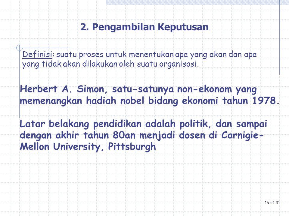 2. Pengambilan Keputusan