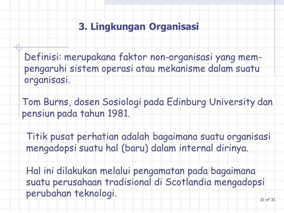 3. Lingkungan Organisasi