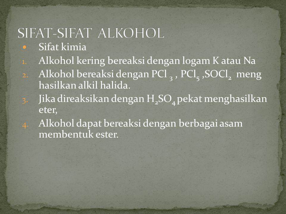 SIFAT-SIFAT ALKOHOL Sifat kimia