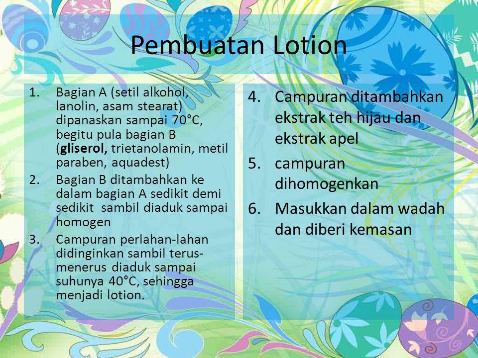 Pembuatan Lotion