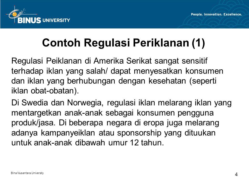 Contoh Regulasi Periklanan (1)