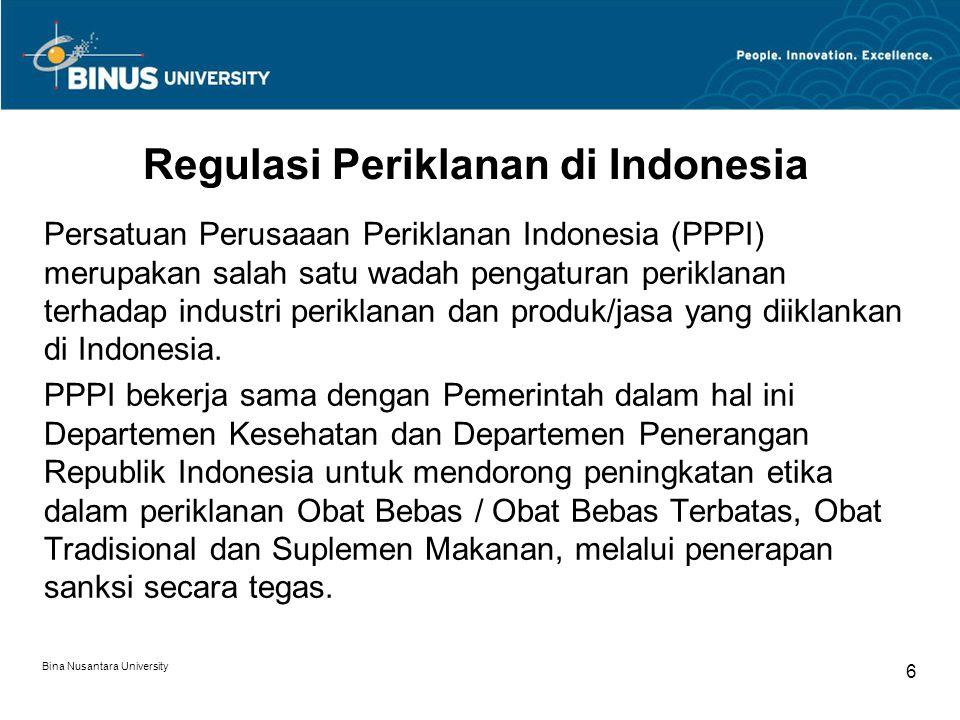 Regulasi Periklanan di Indonesia