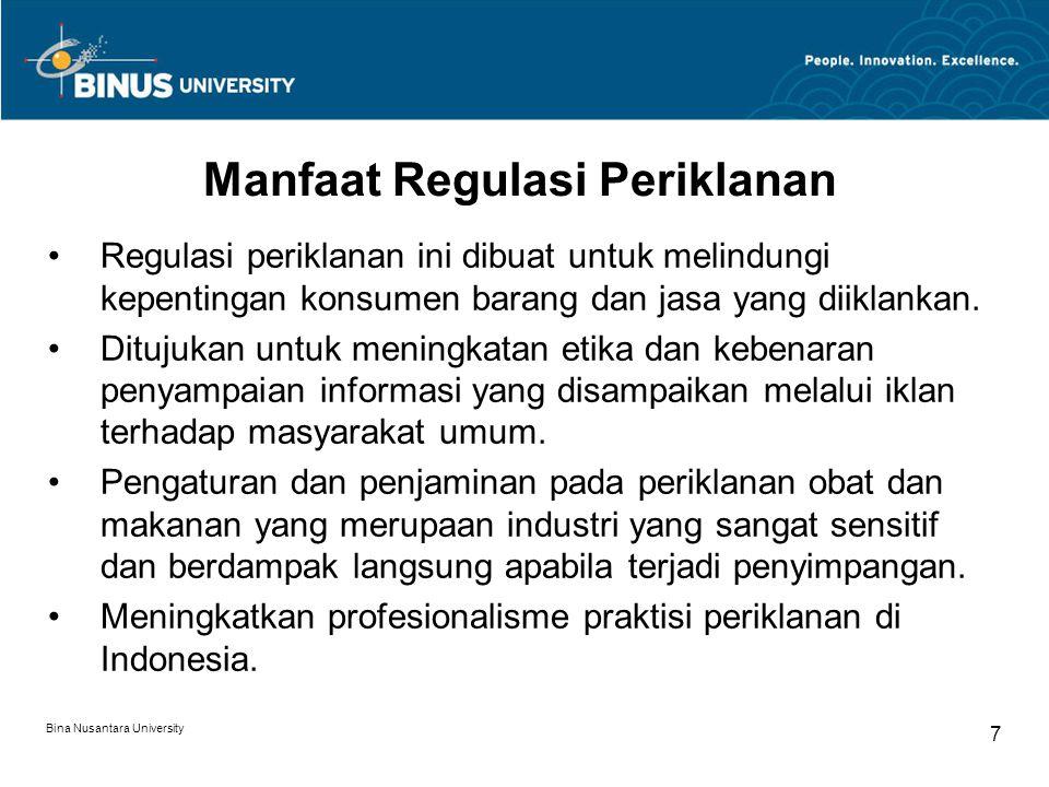 Manfaat Regulasi Periklanan