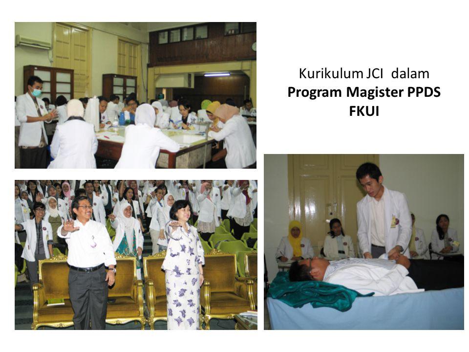 Kurikulum JCI dalam Program Magister PPDS FKUI