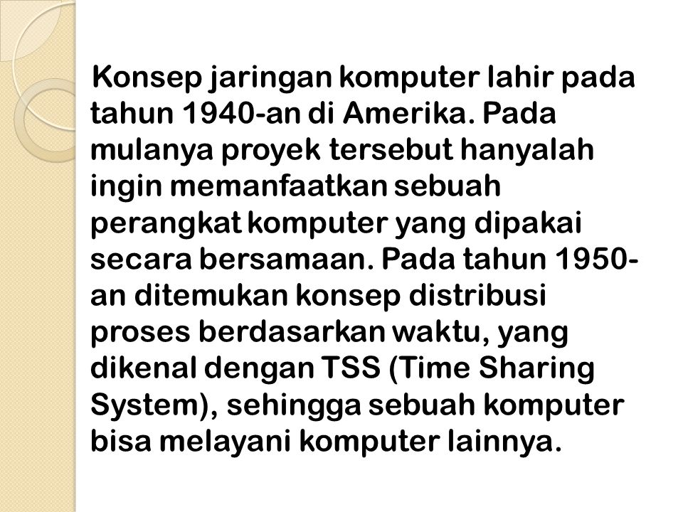 1. Sejarah Jaringan