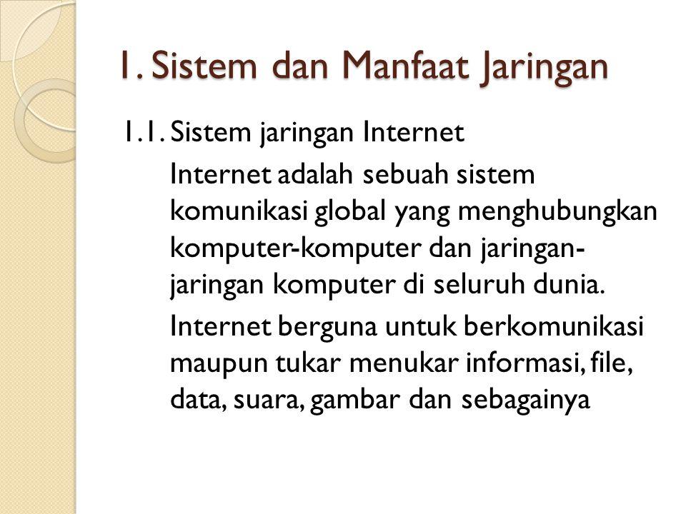 1. Sistem dan Manfaat Jaringan
