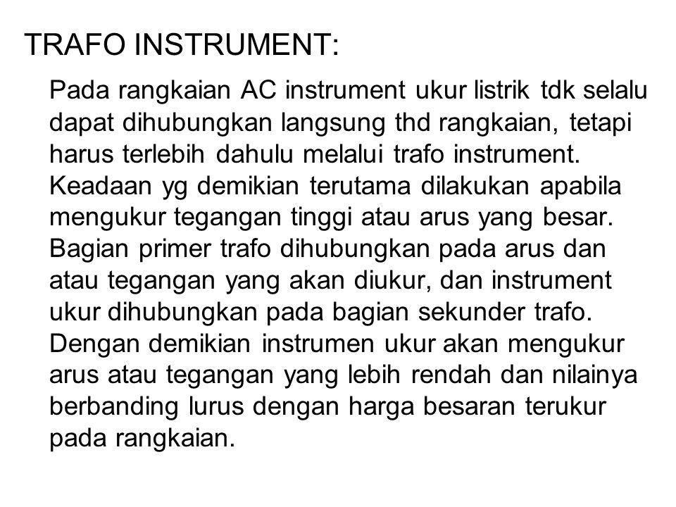 TRAFO INSTRUMENT: