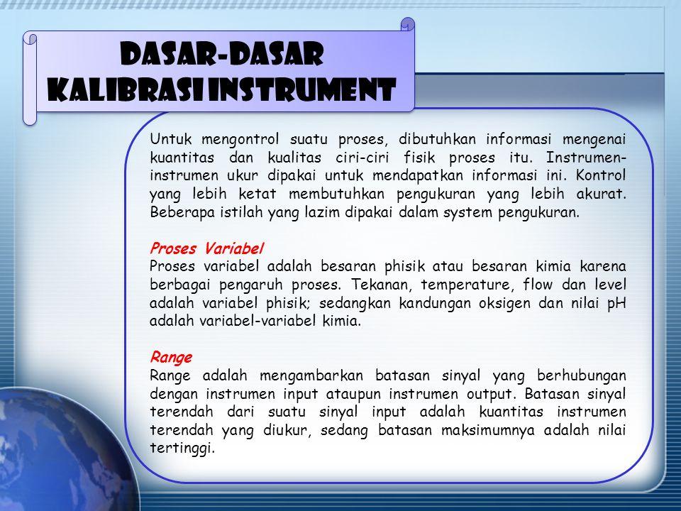 Dasar-dasar kalibrasi instrument