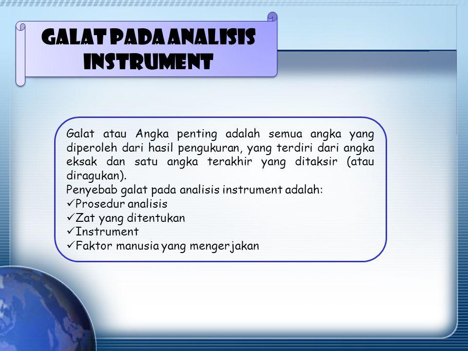 Galat pada Analisis Instrument
