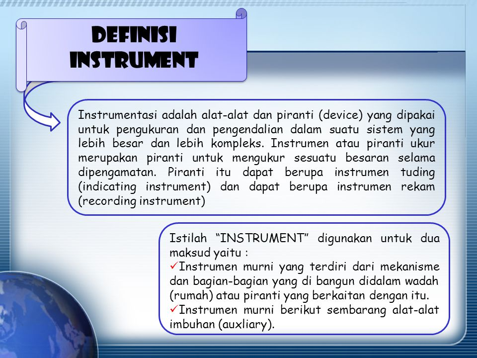 Definisi instrument