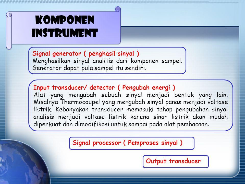 Komponen instrument Signal generator ( penghasil sinyal )