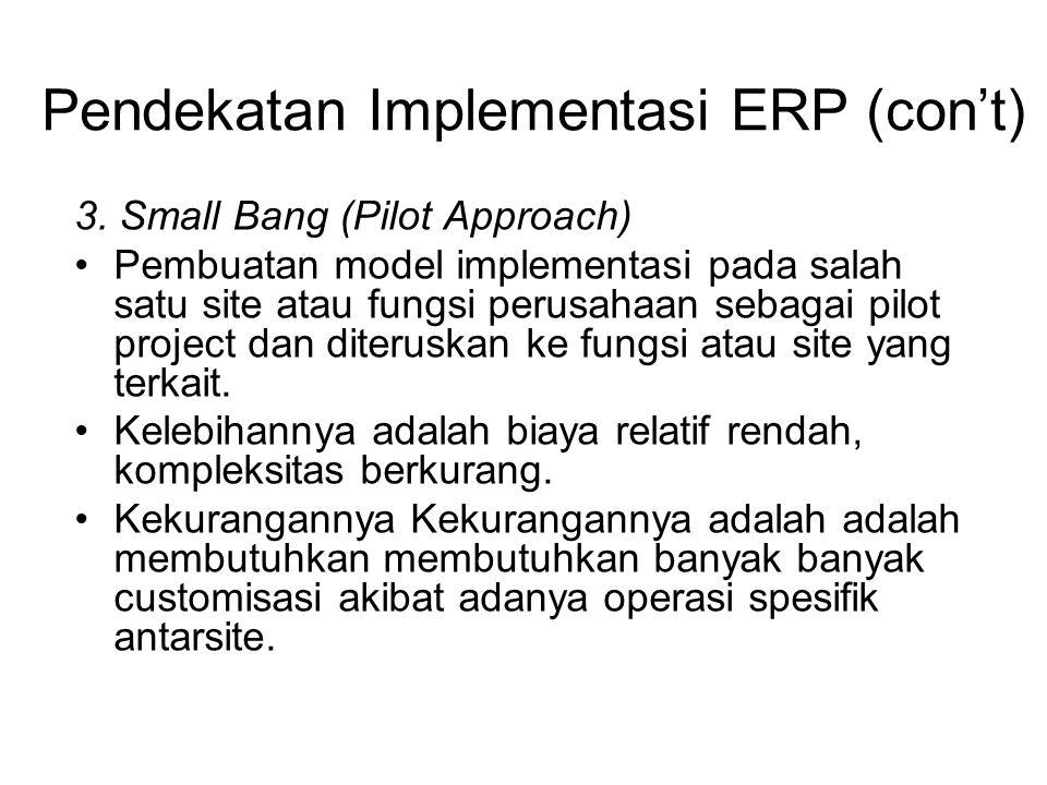 Pendekatan Implementasi ERP (con't)