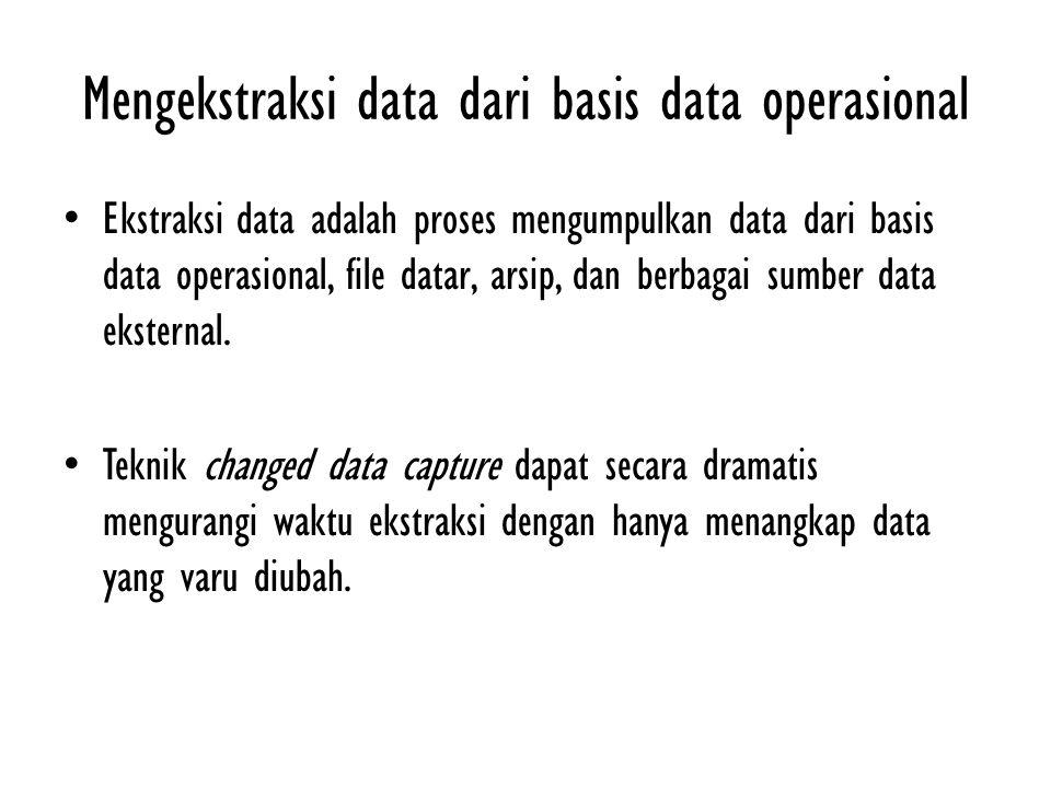 Mengekstraksi data dari basis data operasional