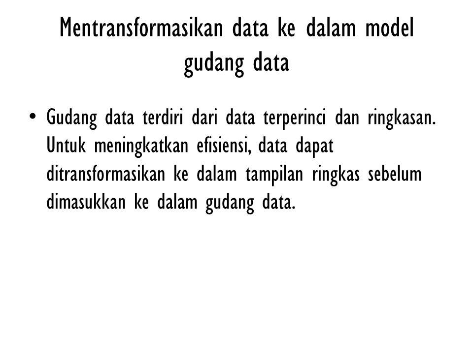 Mentransformasikan data ke dalam model gudang data