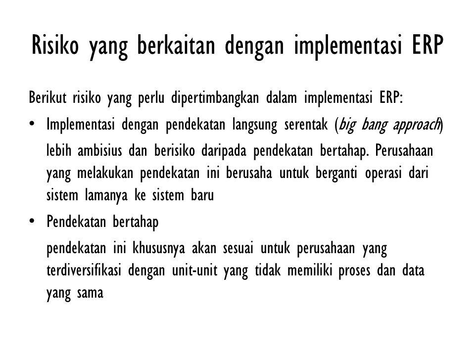 Risiko yang berkaitan dengan implementasi ERP