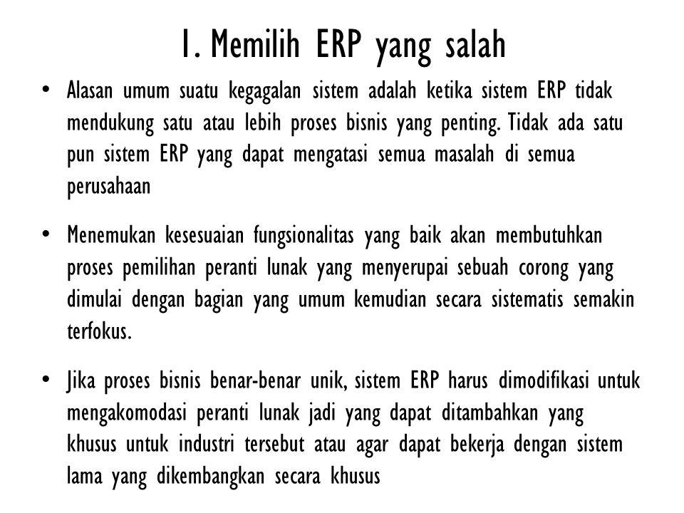 1. Memilih ERP yang salah