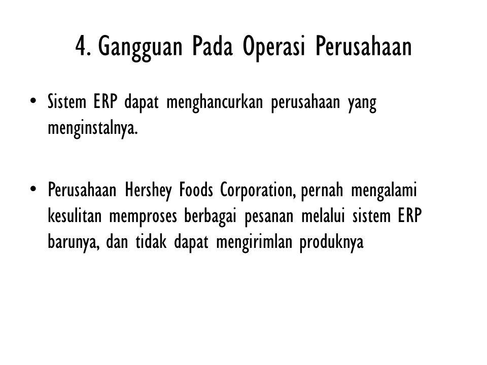 4. Gangguan Pada Operasi Perusahaan