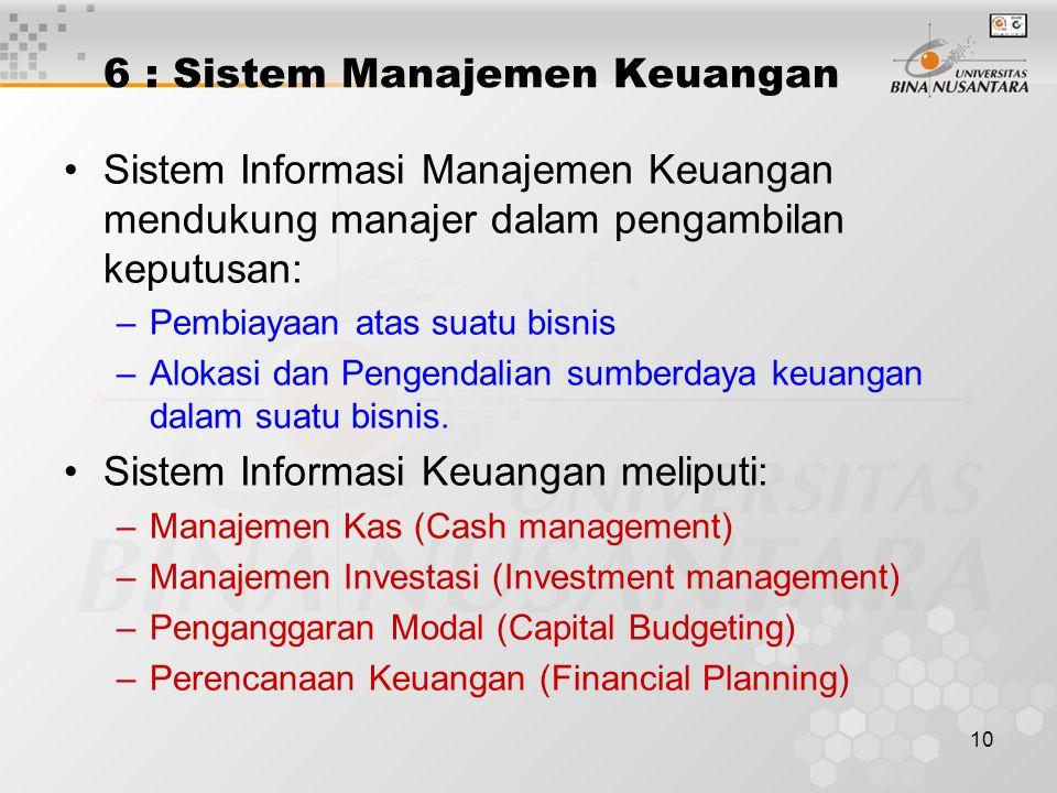 6 : Sistem Manajemen Keuangan