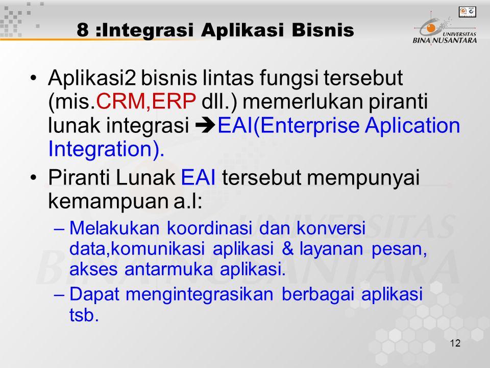 8 :Integrasi Aplikasi Bisnis