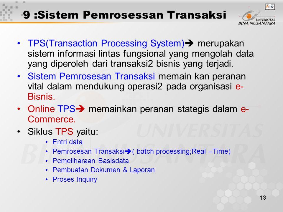 9 :Sistem Pemrosessan Transaksi
