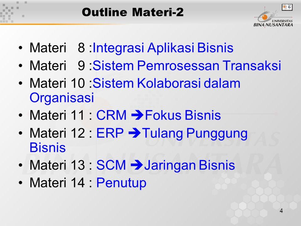 Materi 8 :Integrasi Aplikasi Bisnis