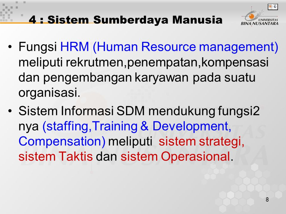 4 : Sistem Sumberdaya Manusia