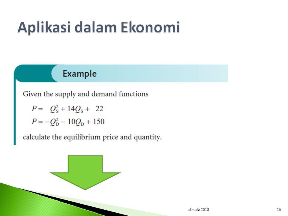 Aplikasi dalam Ekonomi
