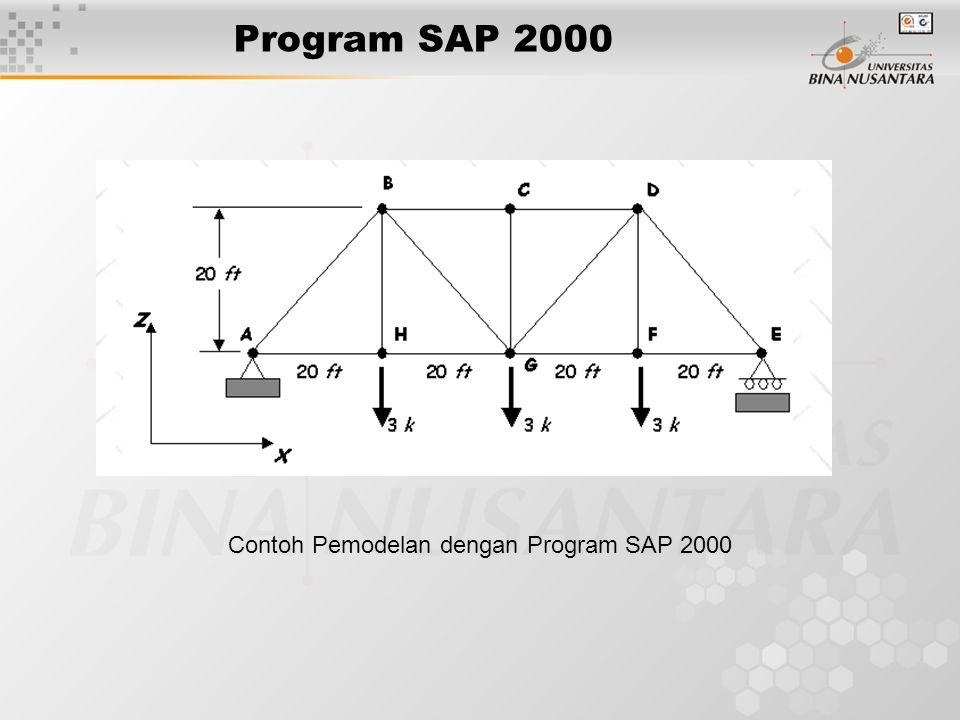 Contoh Pemodelan dengan Program SAP 2000