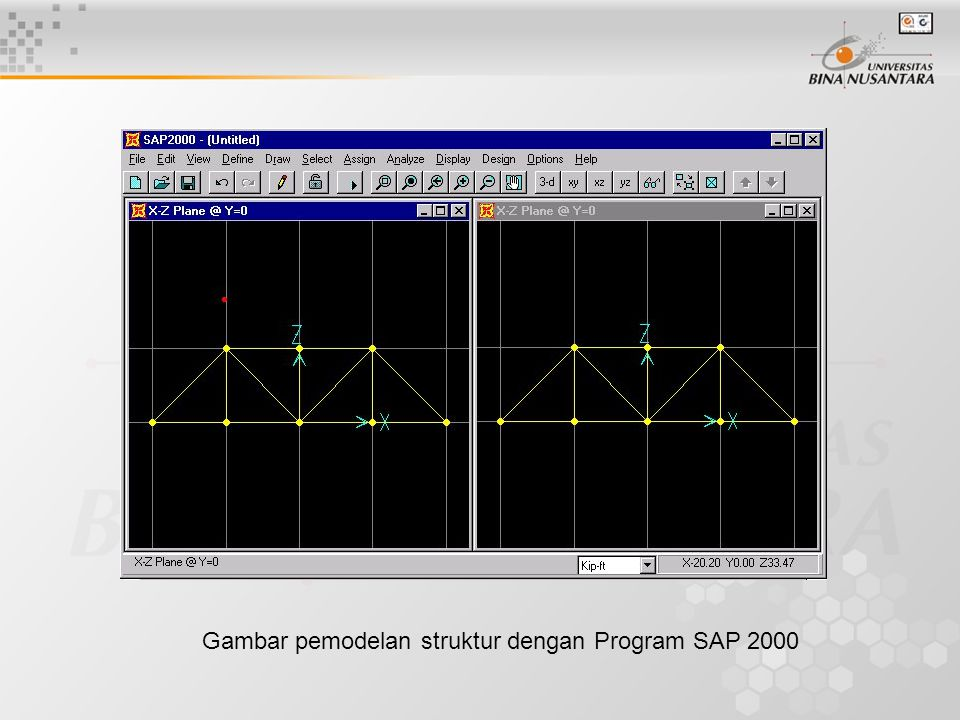 Gambar pemodelan struktur dengan Program SAP 2000