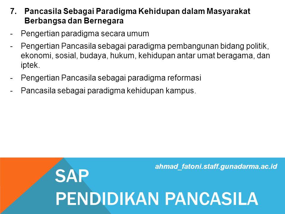 SAP PENDIDIKAN PANCASILA