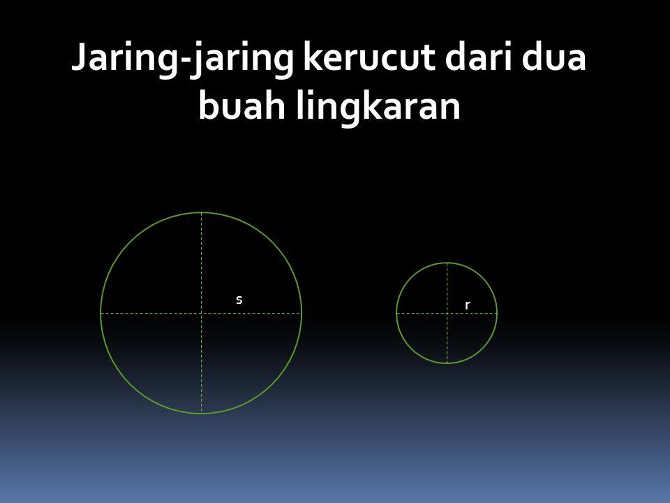 Jaring-jaring kerucut dari dua buah lingkaran