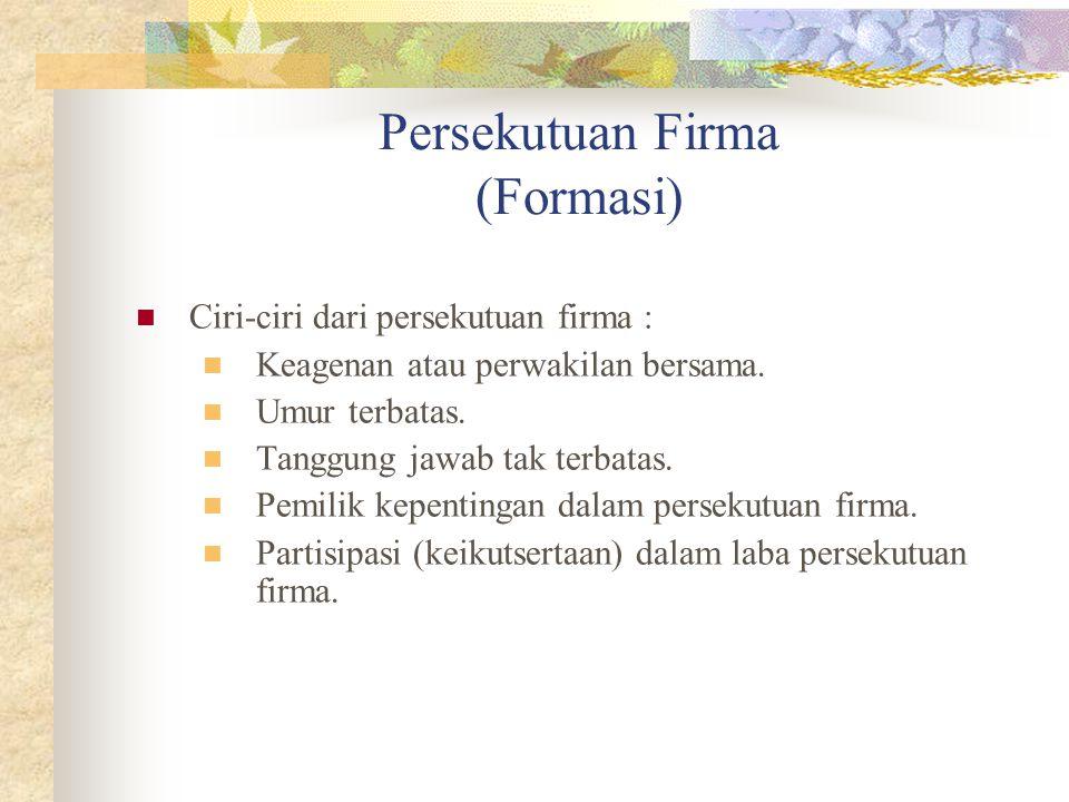 Persekutuan Firma (Formasi)