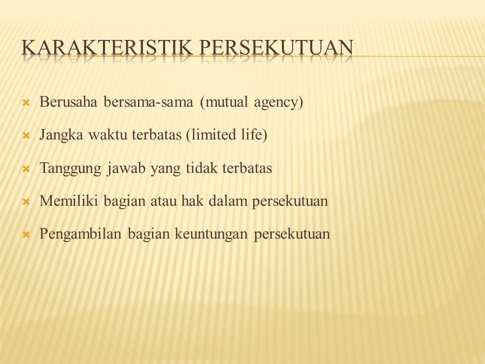 Karakteristik Persekutuan