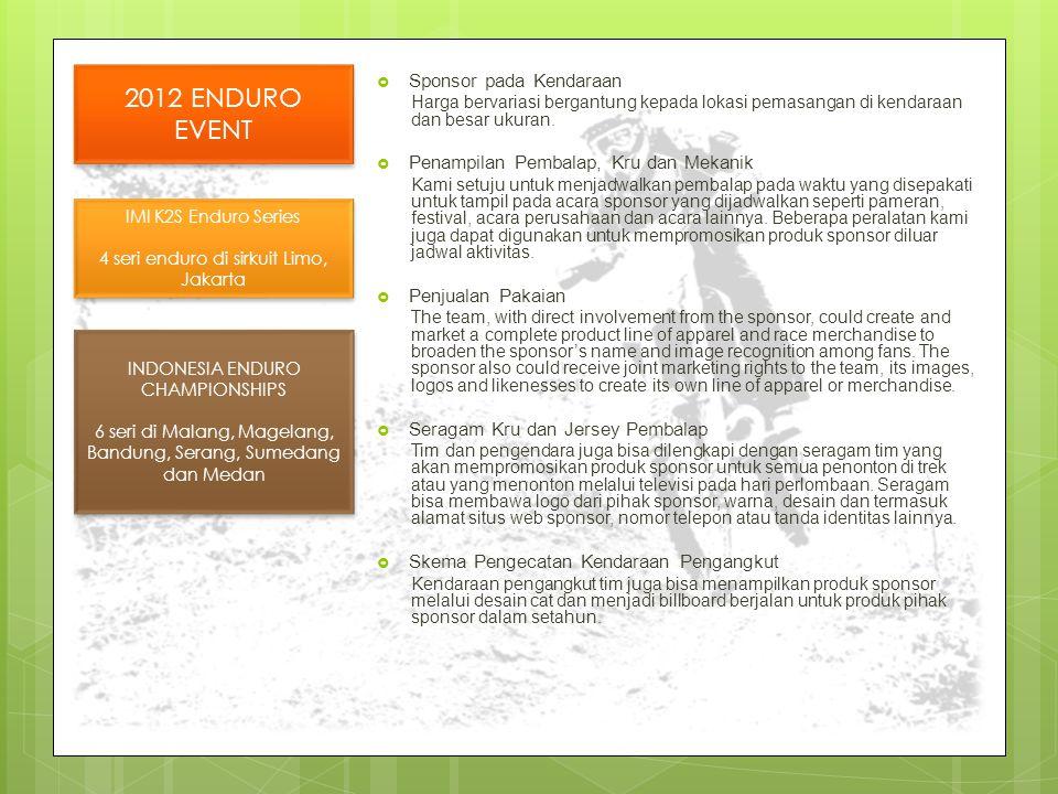 2012 ENDURO EVENT Sponsor pada Kendaraan