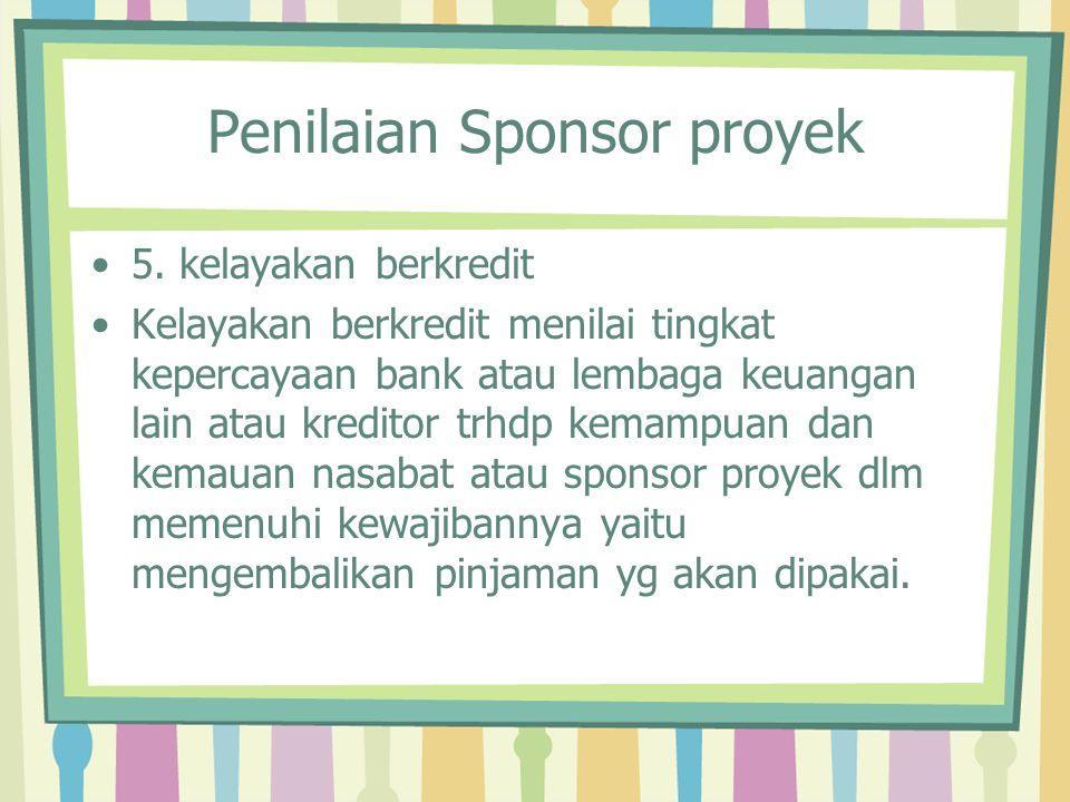 Penilaian Sponsor proyek
