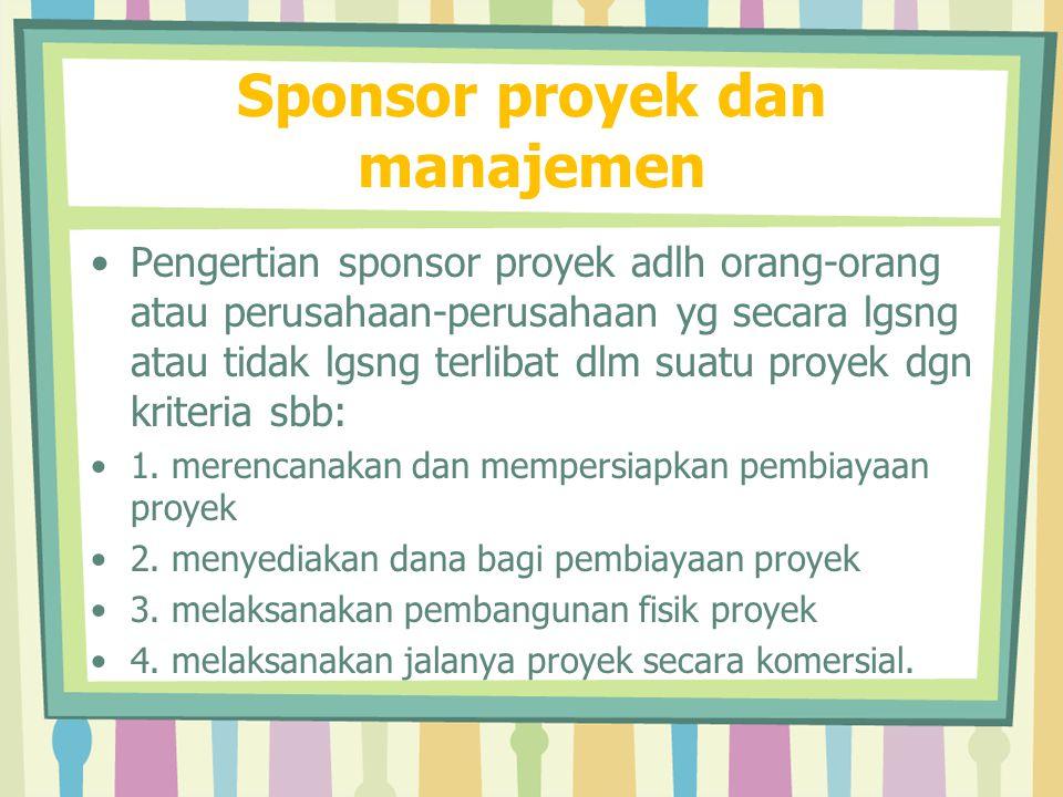 Sponsor proyek dan manajemen