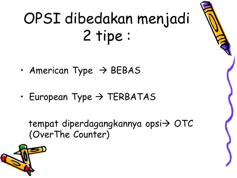OPSI dibedakan menjadi 2 tipe :