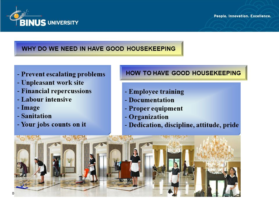 WHY DO WE NEED IN HAVE GOOD HOUSEKEEPING HOW TO HAVE GOOD HOUSEKEEPING