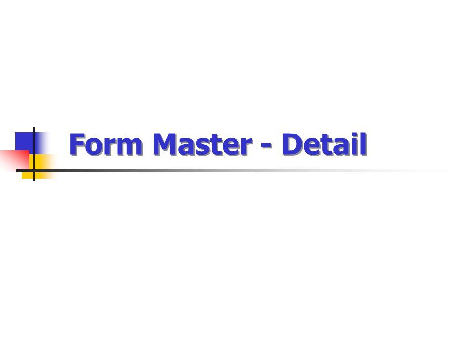 Form Master - Detail